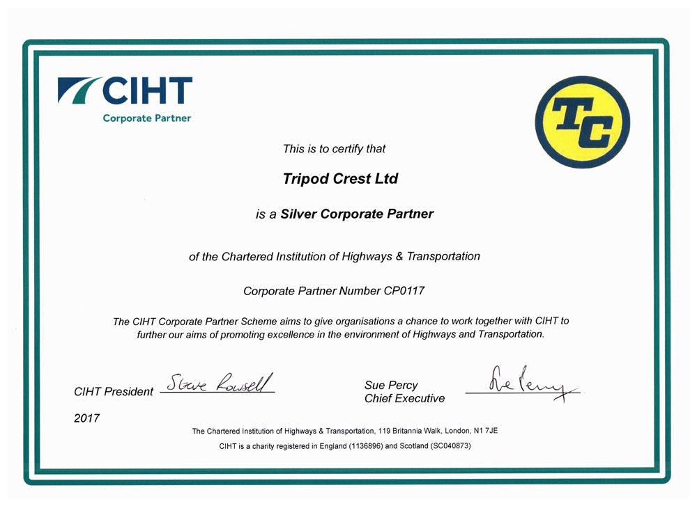 crest certificates tripod certificate